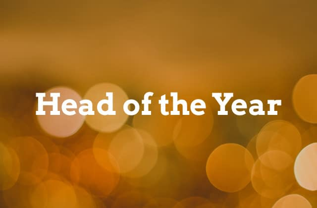 head of the year banner